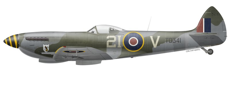 RCAF, Spitfire Mk XVIe TD341 of No 443 Squadron, Utersen, Germany, August 1945