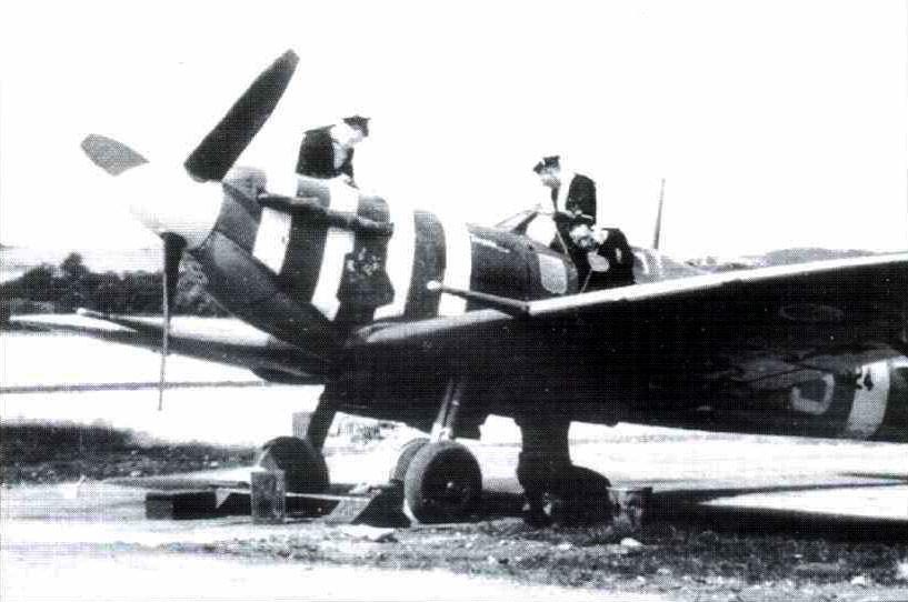 """Spitfire Mk Vb BM324 """"Tomana"""", flown by Wg Cdr Dupérier."""