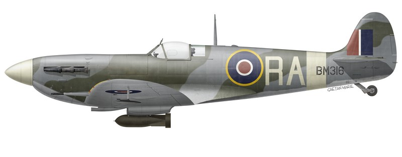 Spitfire Mk Vb, BM316, flown by G/C Richard L. R. Atcherley, Officer Commanding the Kenley Wing, summer 1942.