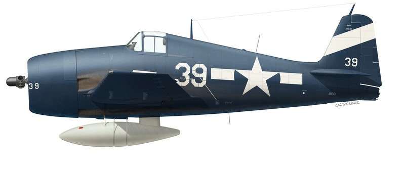 USN, F6F-5 Hellcat, White 39, VF-94, USS Lexington, 25 February 1945
