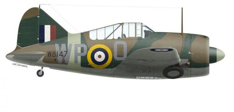RAAF by G. Marie No 615 Squadron RAF F//O Gannon Print Spitfire Mk Vc