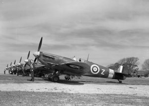 Spitfire Mk Vc AB216 DL-Z of No 91 Squadron at Hawkinge, May 1942.