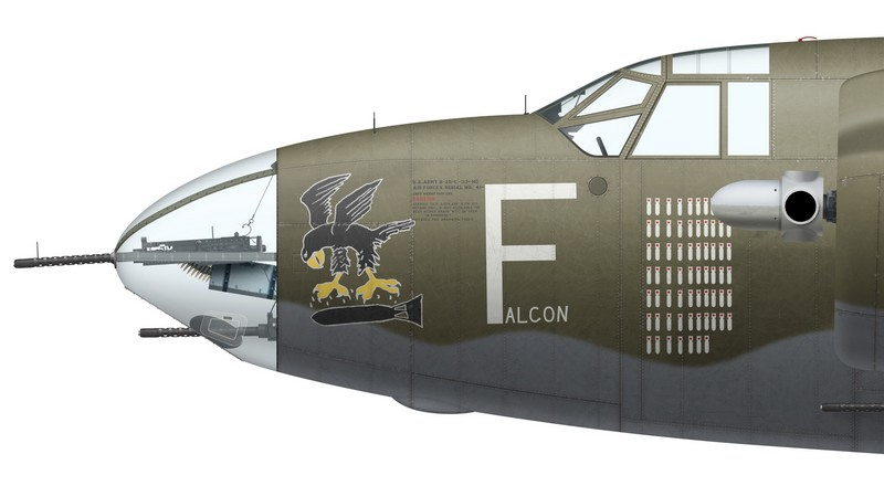 "Martin Marauder Mk II FB447 ""Falcon"", No 12 Squadron SAAF, Pescara, Italy, summer 1944"